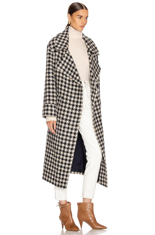Image 3 of Smythe Blanket Coat in Navy & Black Check