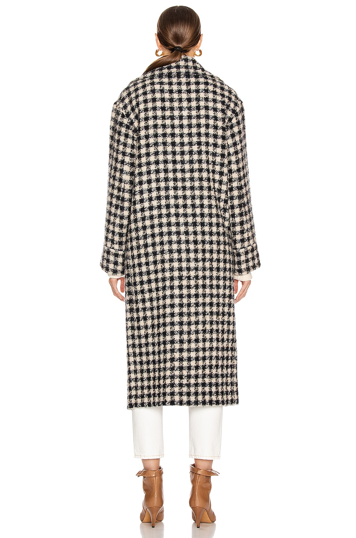 Image 4 of Smythe Blanket Coat in Navy & Black Check