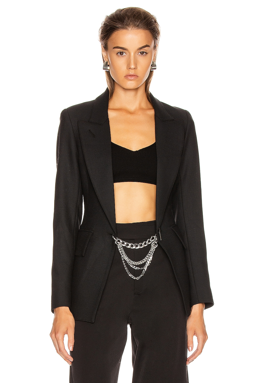 Image 1 of Smythe x Jenny Bird Collab Blazer in Black & Rhodium