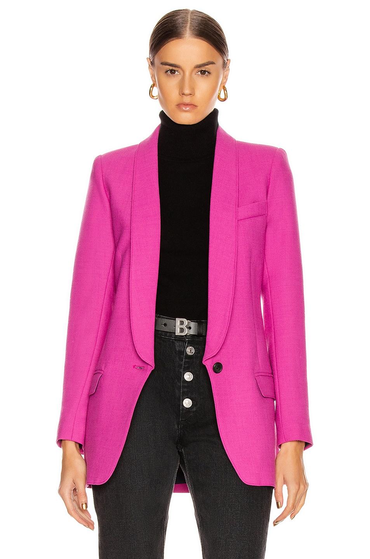 Image 1 of Smythe Long Shawl Blazer in Violet