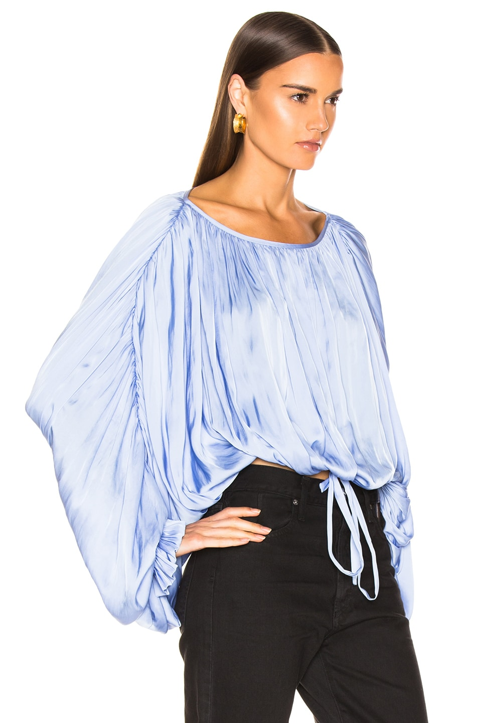 Image 2 of Smythe Butterfly Blouse in Periwinkle
