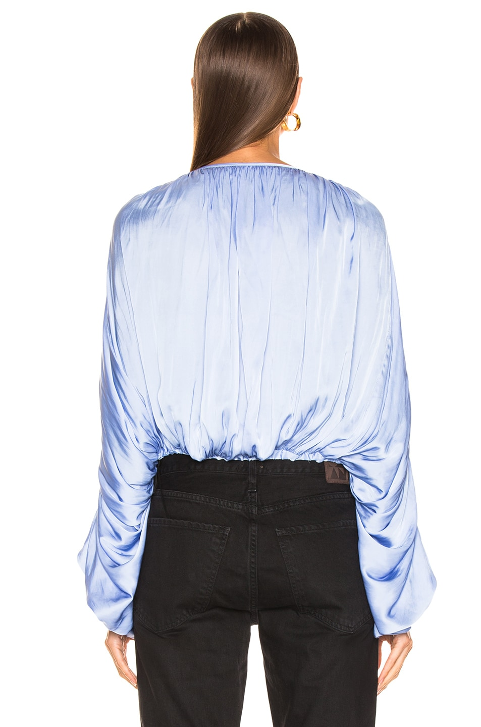 Image 3 of Smythe Butterfly Blouse in Periwinkle