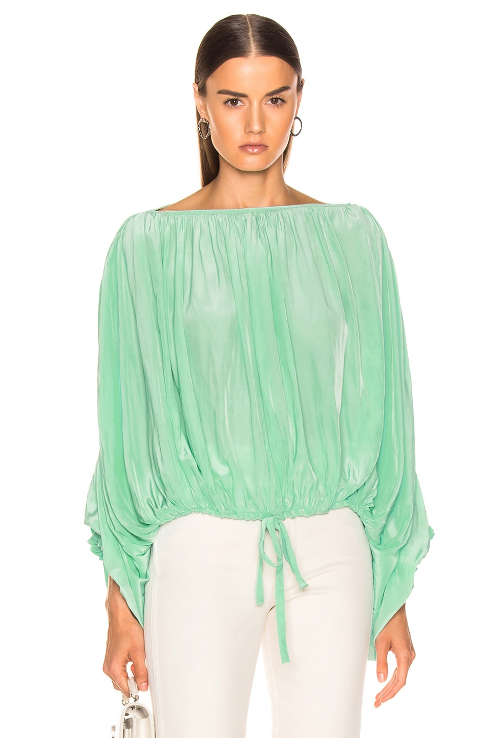 Image 1 of Smythe Butterfly Blouse in Aqua