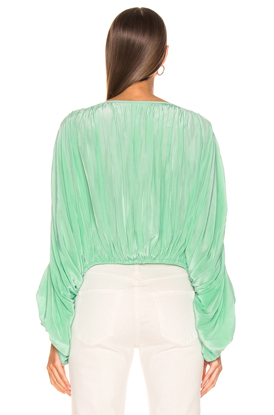 Image 3 of Smythe Butterfly Blouse in Aqua