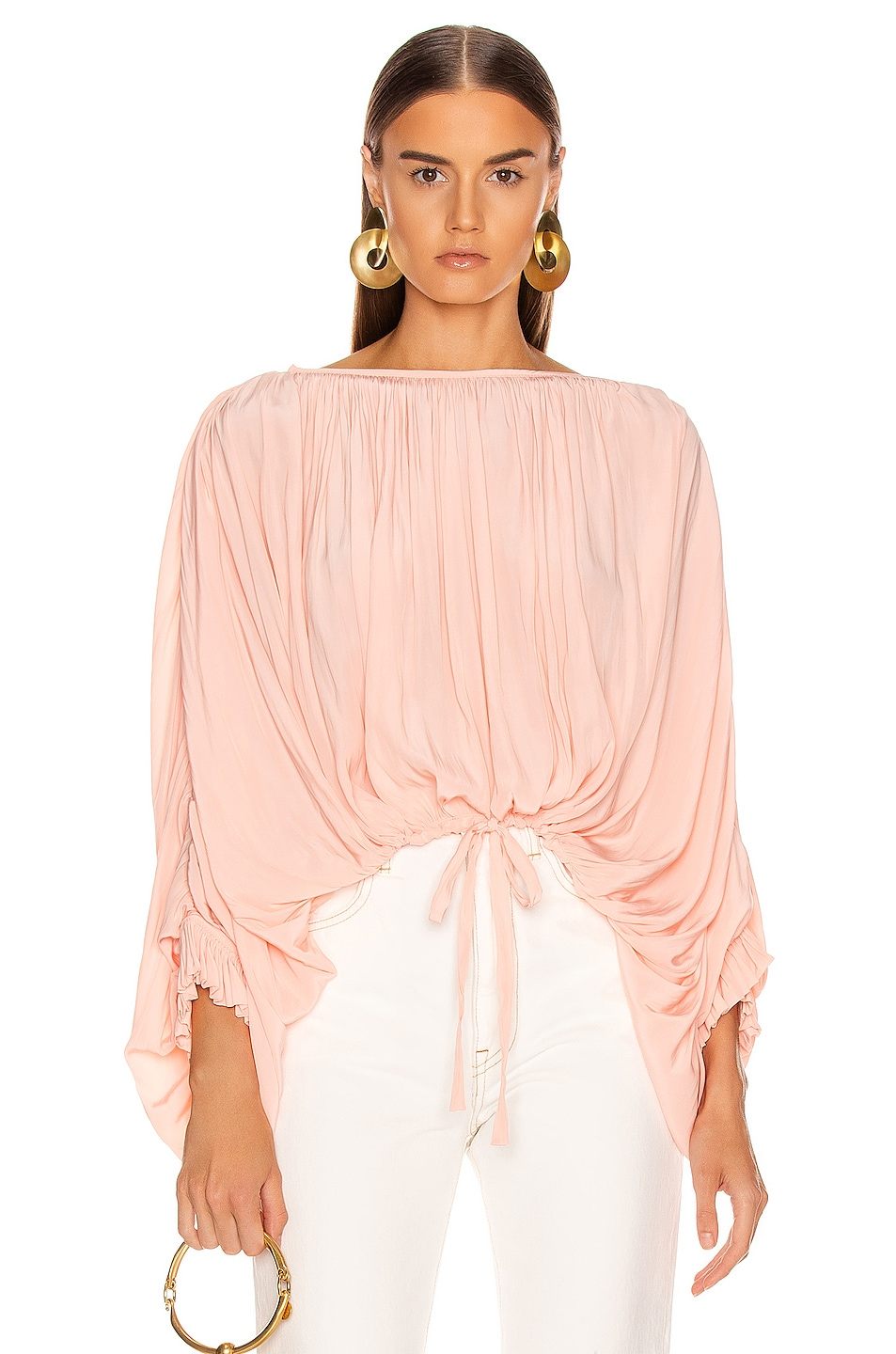 Image 1 of Smythe Butterfly Blouse in Peach