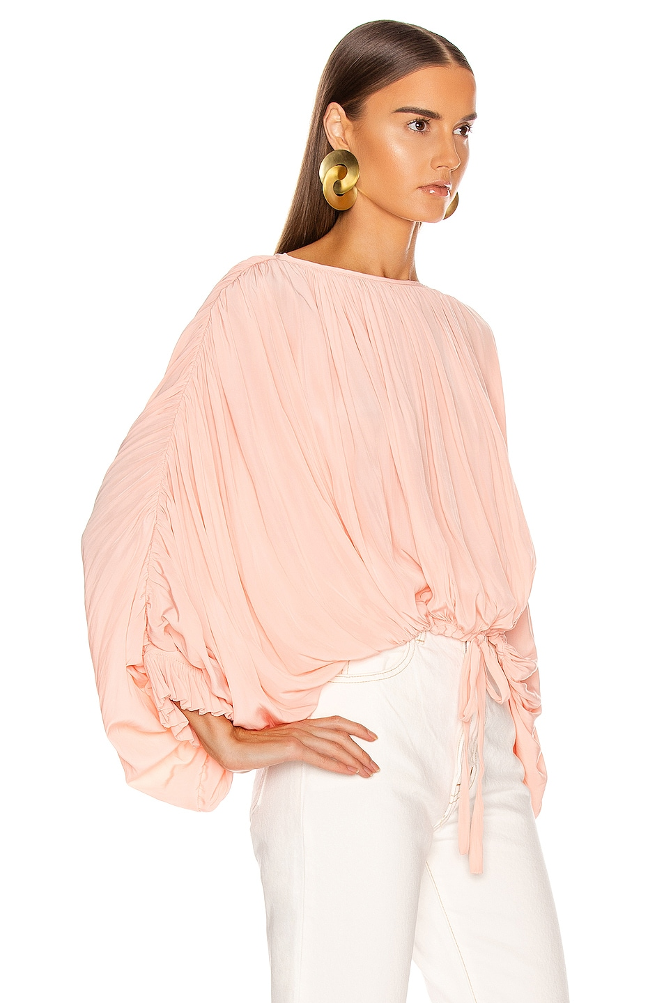 Image 2 of Smythe Butterfly Blouse in Peach