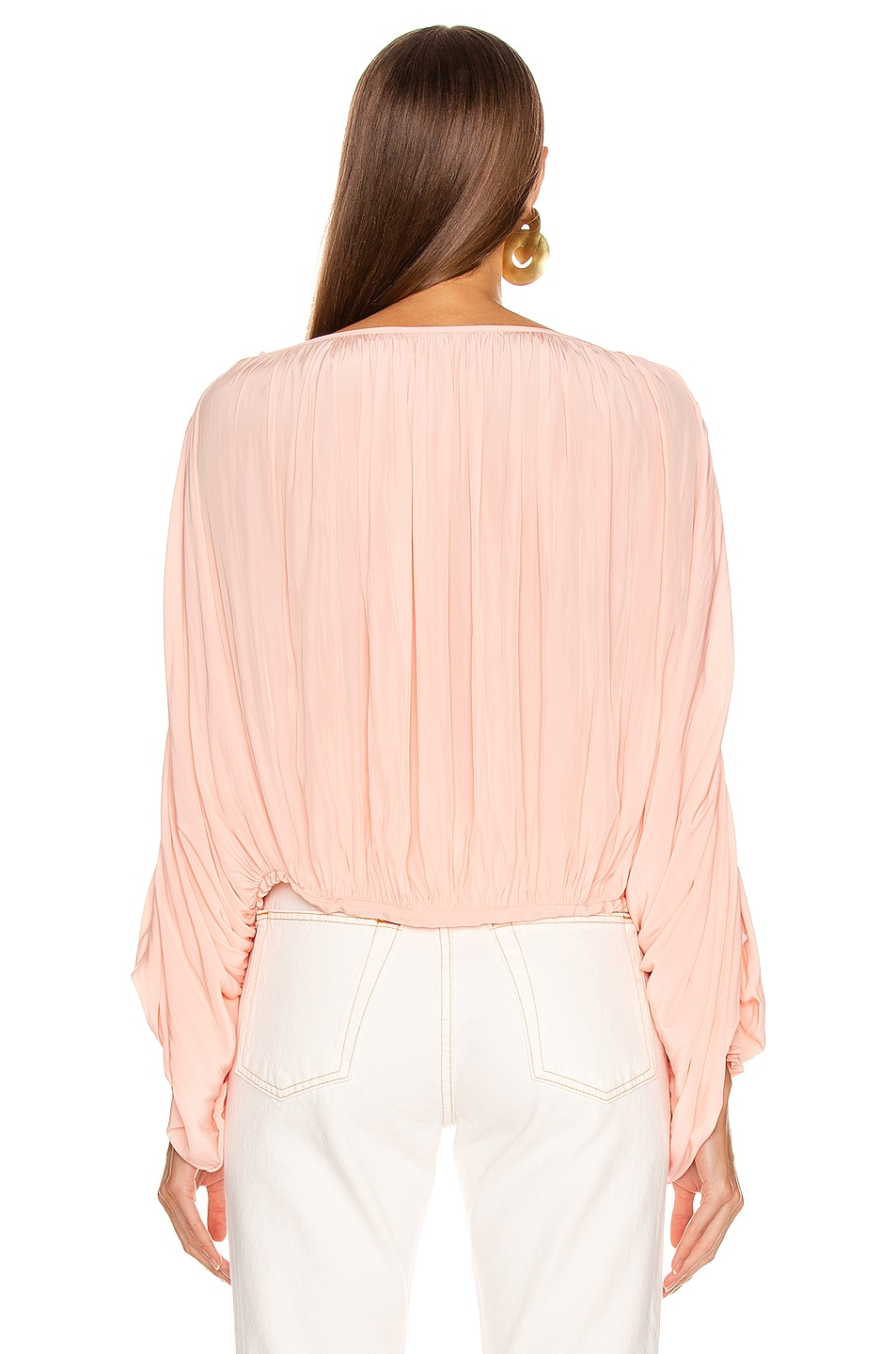 Image 3 of Smythe Butterfly Blouse in Peach