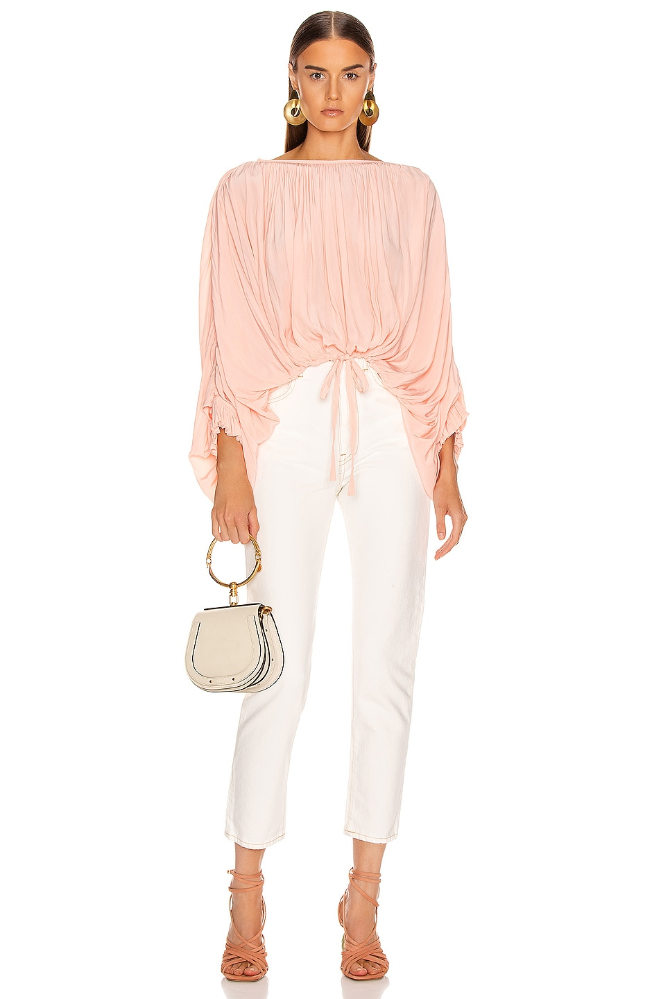 Image 4 of Smythe Butterfly Blouse in Peach