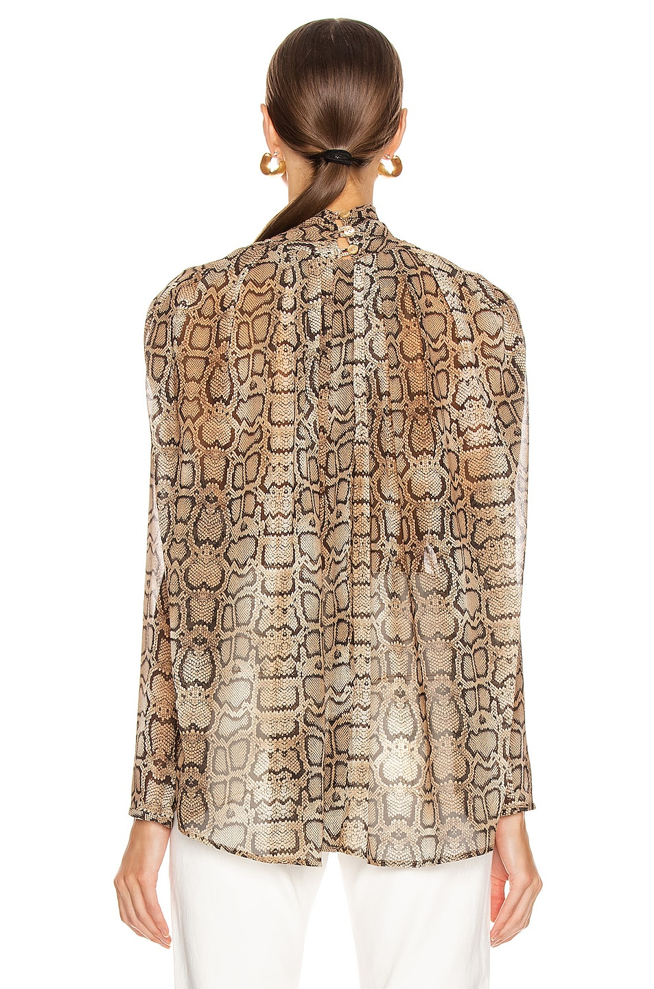Image 3 of Smythe Turtleneck Drape Top in Snake Print