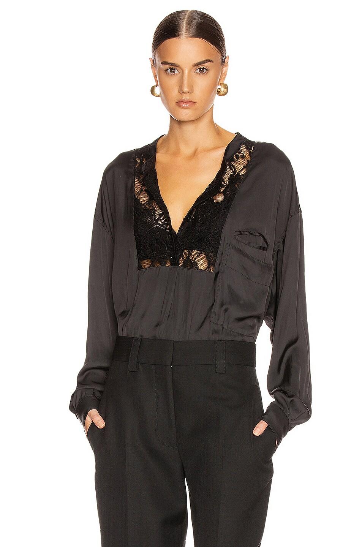 Image 1 of Smythe Lace Bib Top in Black