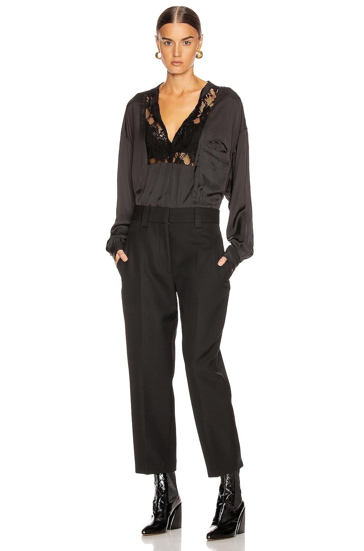 Image 4 of Smythe Lace Bib Top in Black