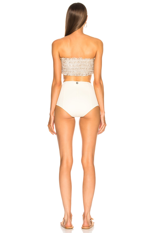 Image 3 of Sand & Blue Calista Swimsuit in Silver & Ecru