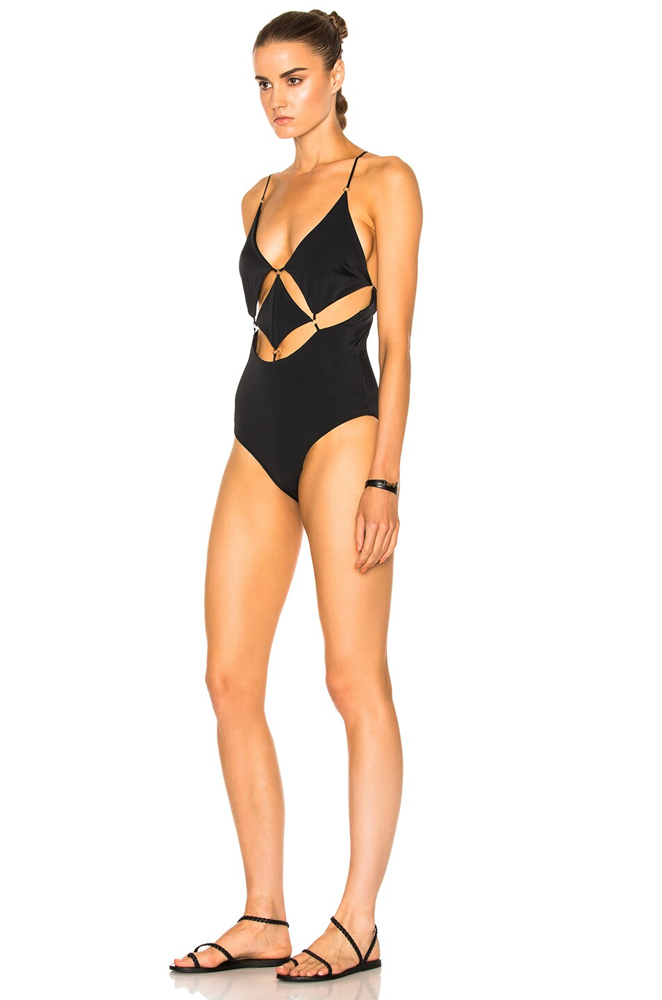 Image 2 of Sand & Blue Diamond Swimsuit in Black