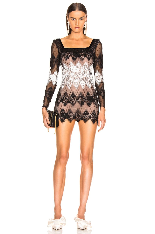 Image 1 of Sandra Mansour Perle Noire Mini Dress in Black & White