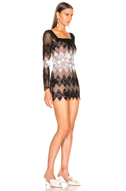 Image 2 of Sandra Mansour Perle Noire Mini Dress in Black & White