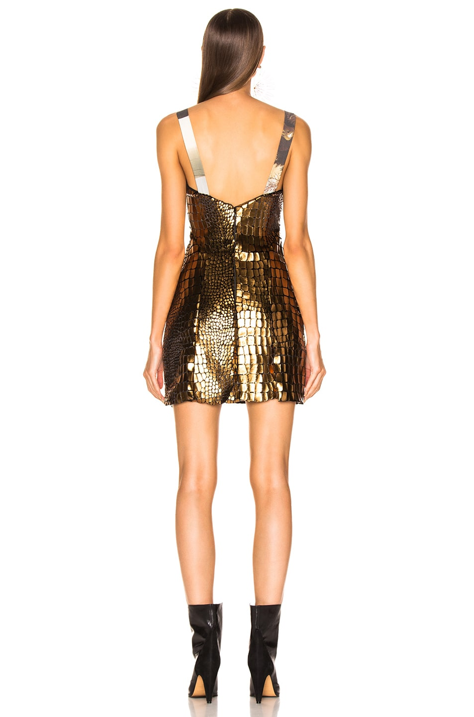 Image 3 of Sandra Mansour Soleil Brillant Mini Dress in Gold
