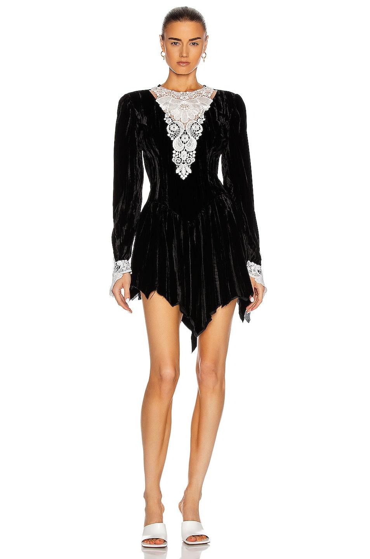 Image 1 of SAMI MIRO VINTAGE 80's Mini Dress in Black