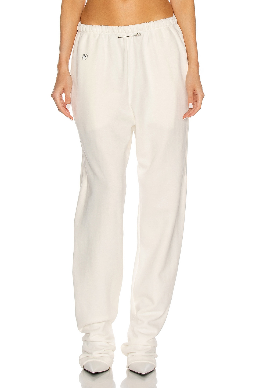 Image 1 of SAMI MIRO VINTAGE Sweatpant in White & Black