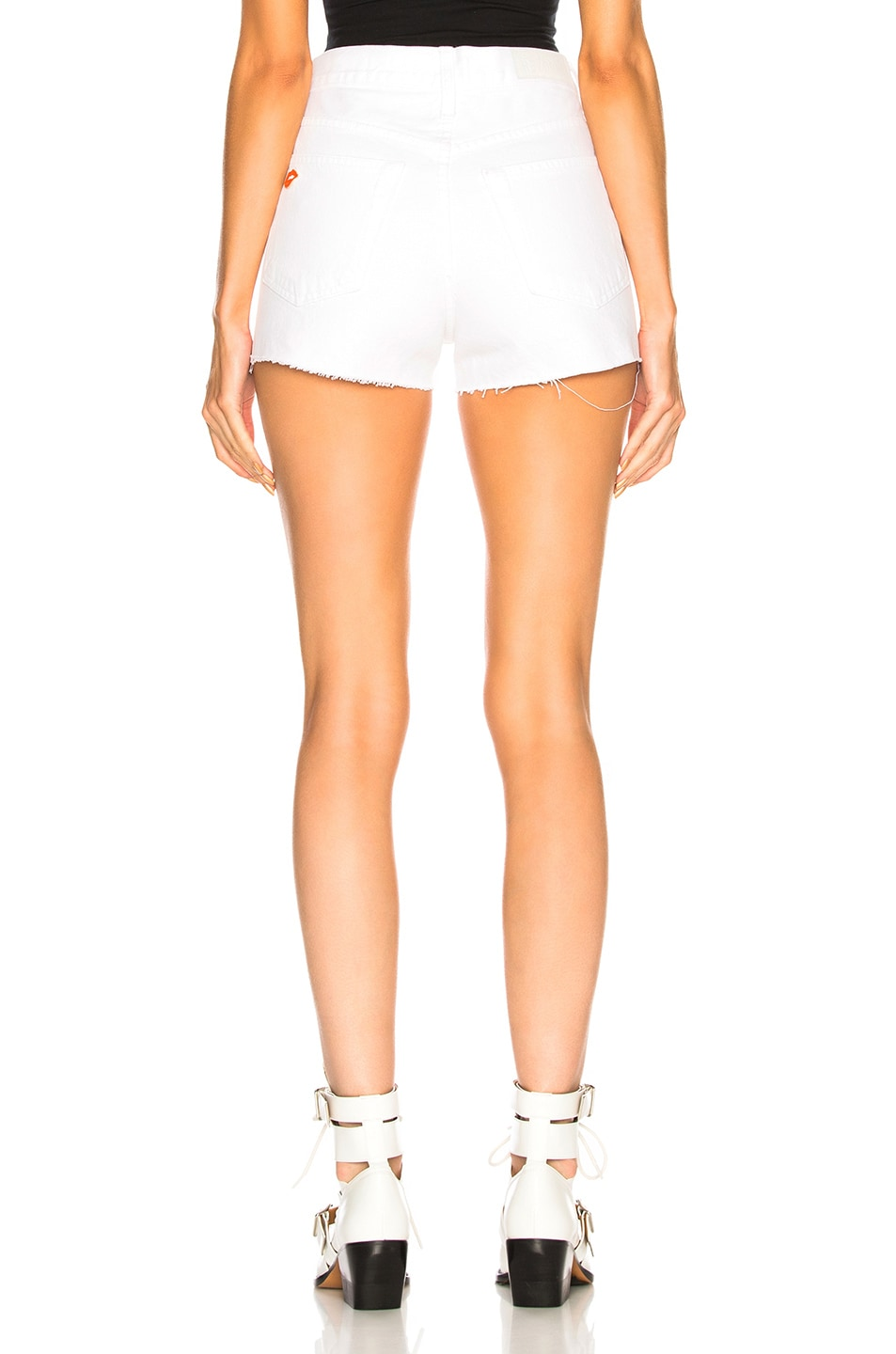 Image 3 of Solid & Striped x RE/DONE Hollywood High Waisted Short in Dirty White