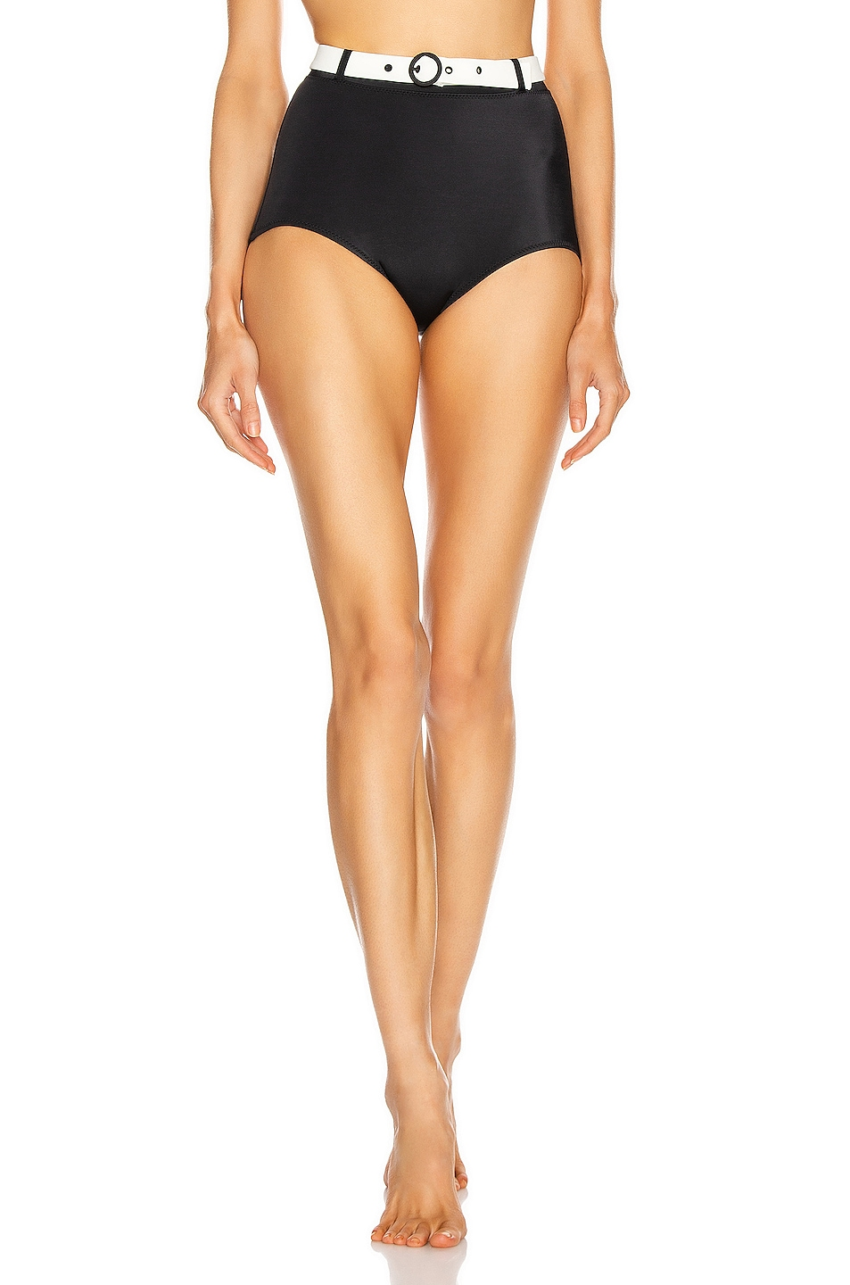 Image 1 of Solid & Striped Jean Bikini Bottom in Black