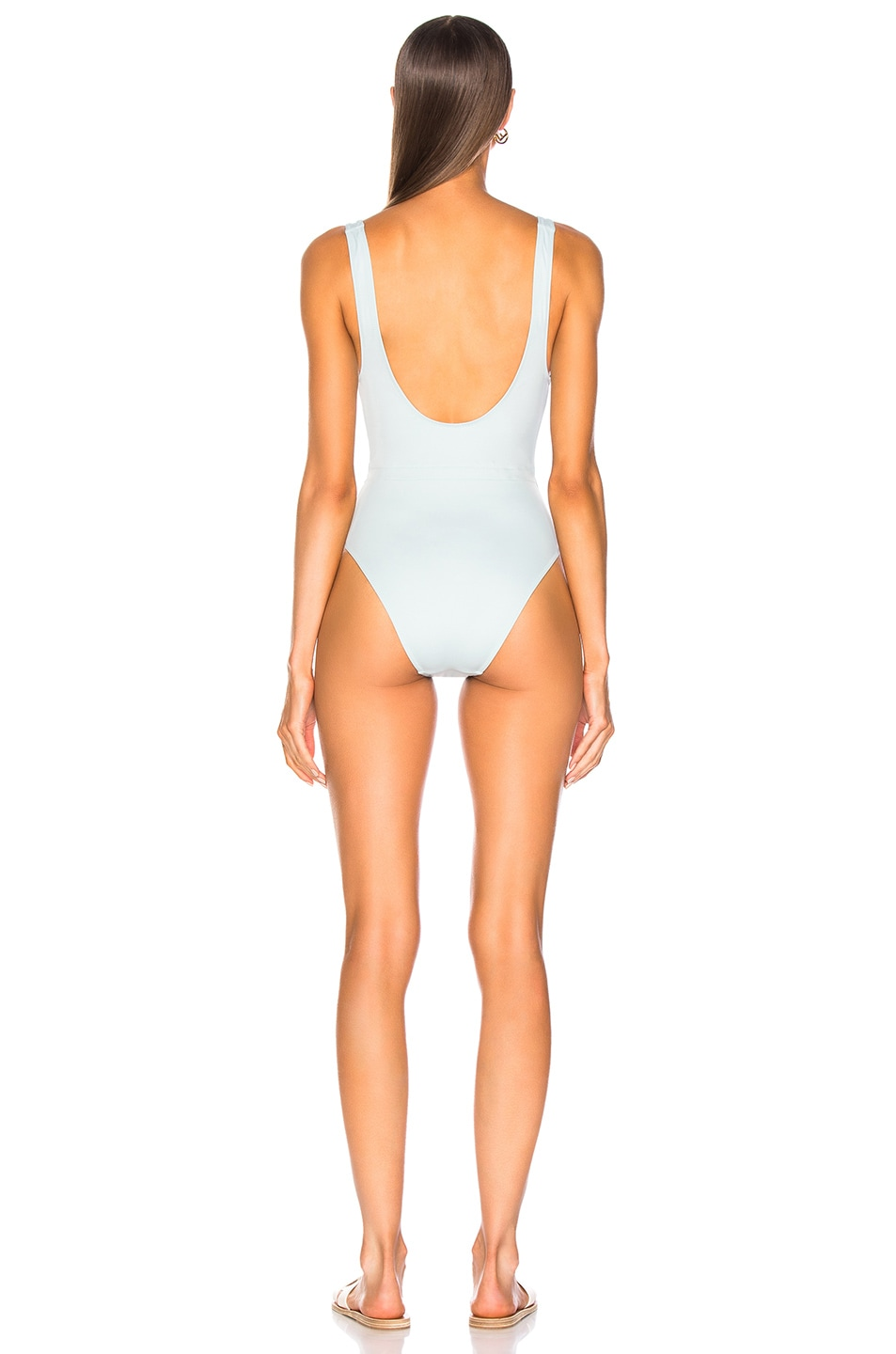 Image 3 of Solid & Striped Michelle Tie Swimsuit in Sky