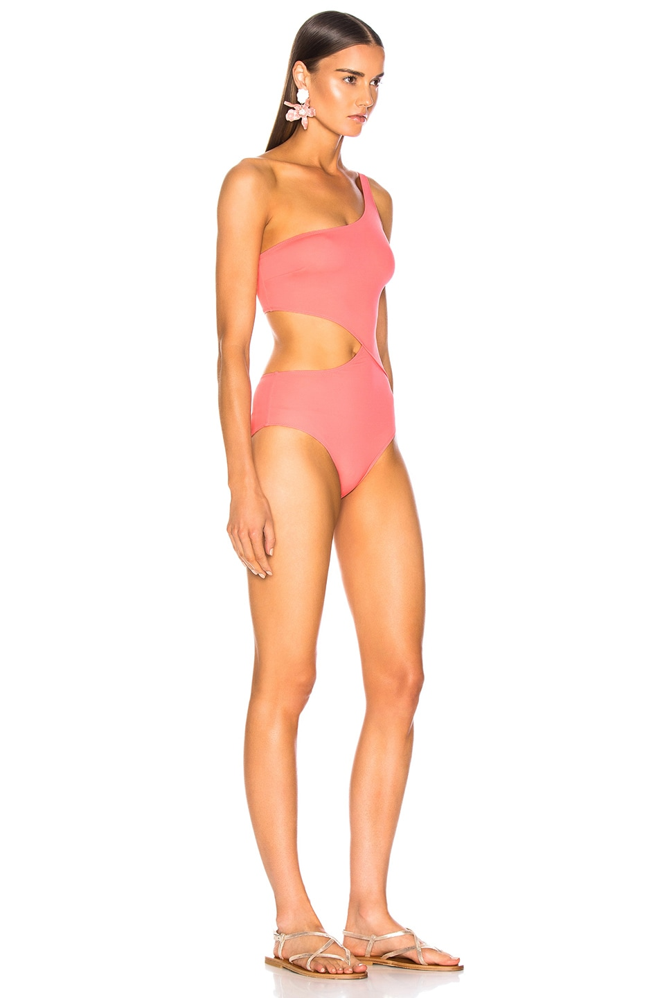 Image 2 of Solid & Striped Claudia Swimsuit in Flamingo