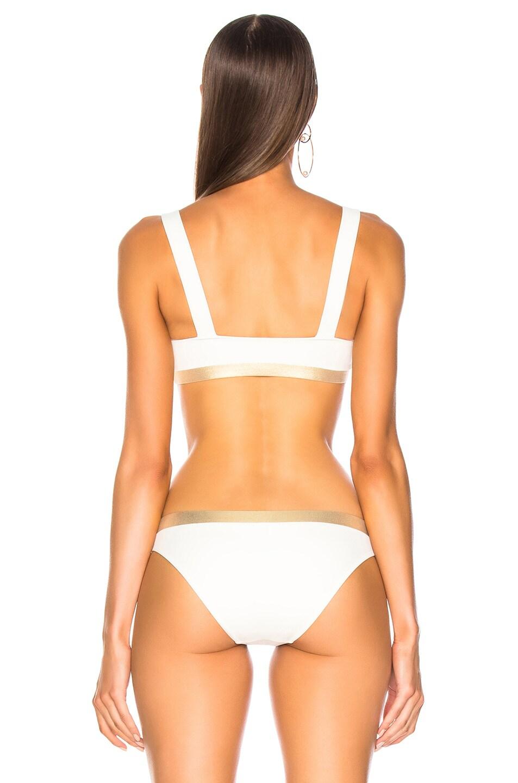 Image 3 of Solid & Striped Madison Bikini Top in Cream & Gold