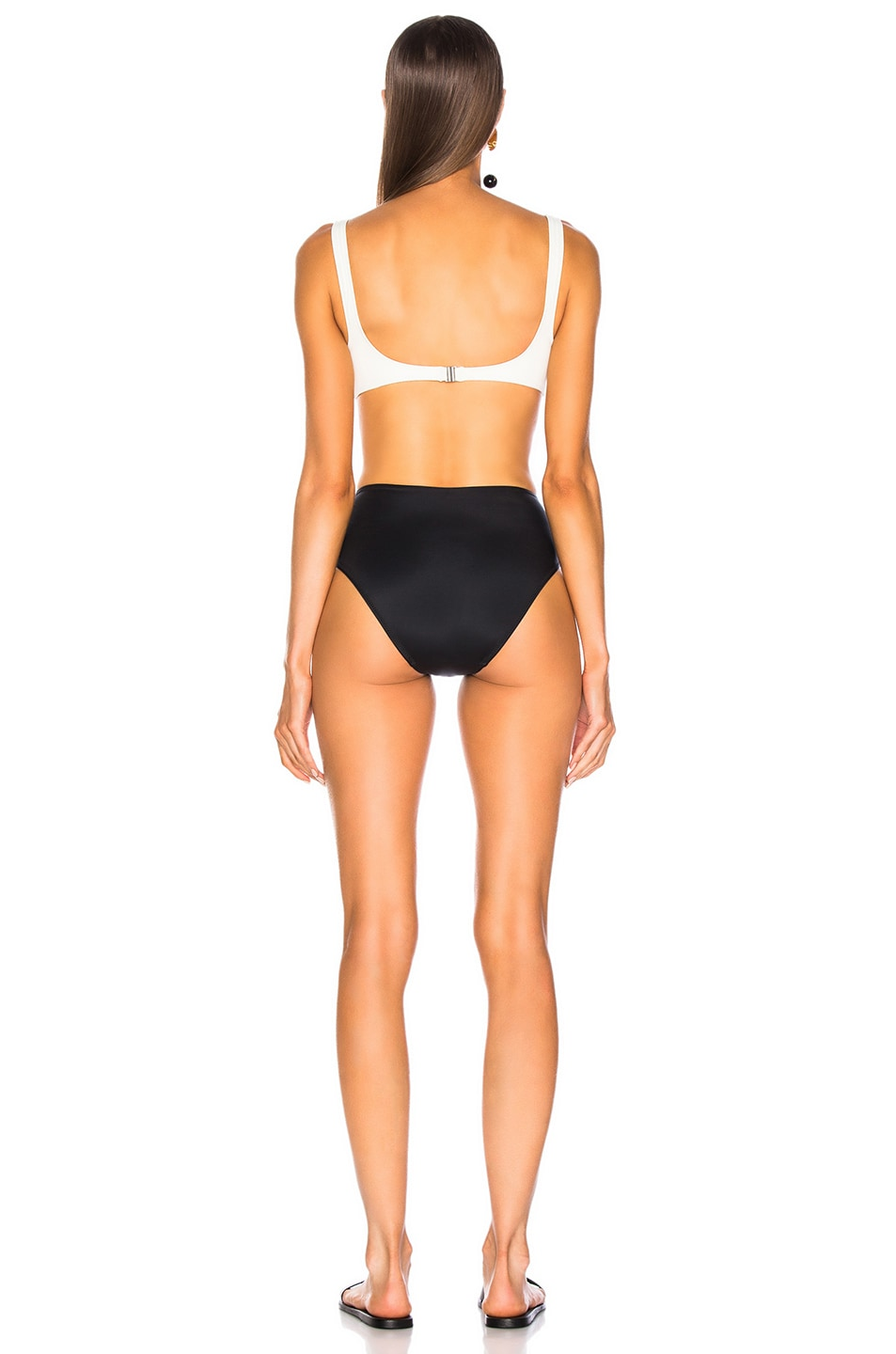 Image 3 of Solid & Striped Bailey Swimsuit in Cream & Black