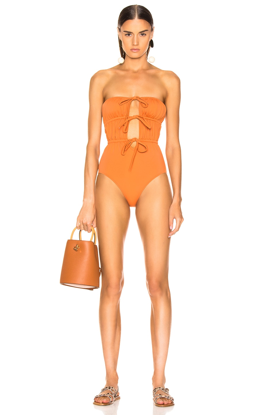 Image 1 of Solid & Striped Paula Swimsuit in Bronze
