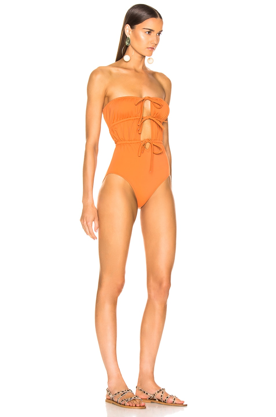 Image 2 of Solid & Striped Paula Swimsuit in Bronze