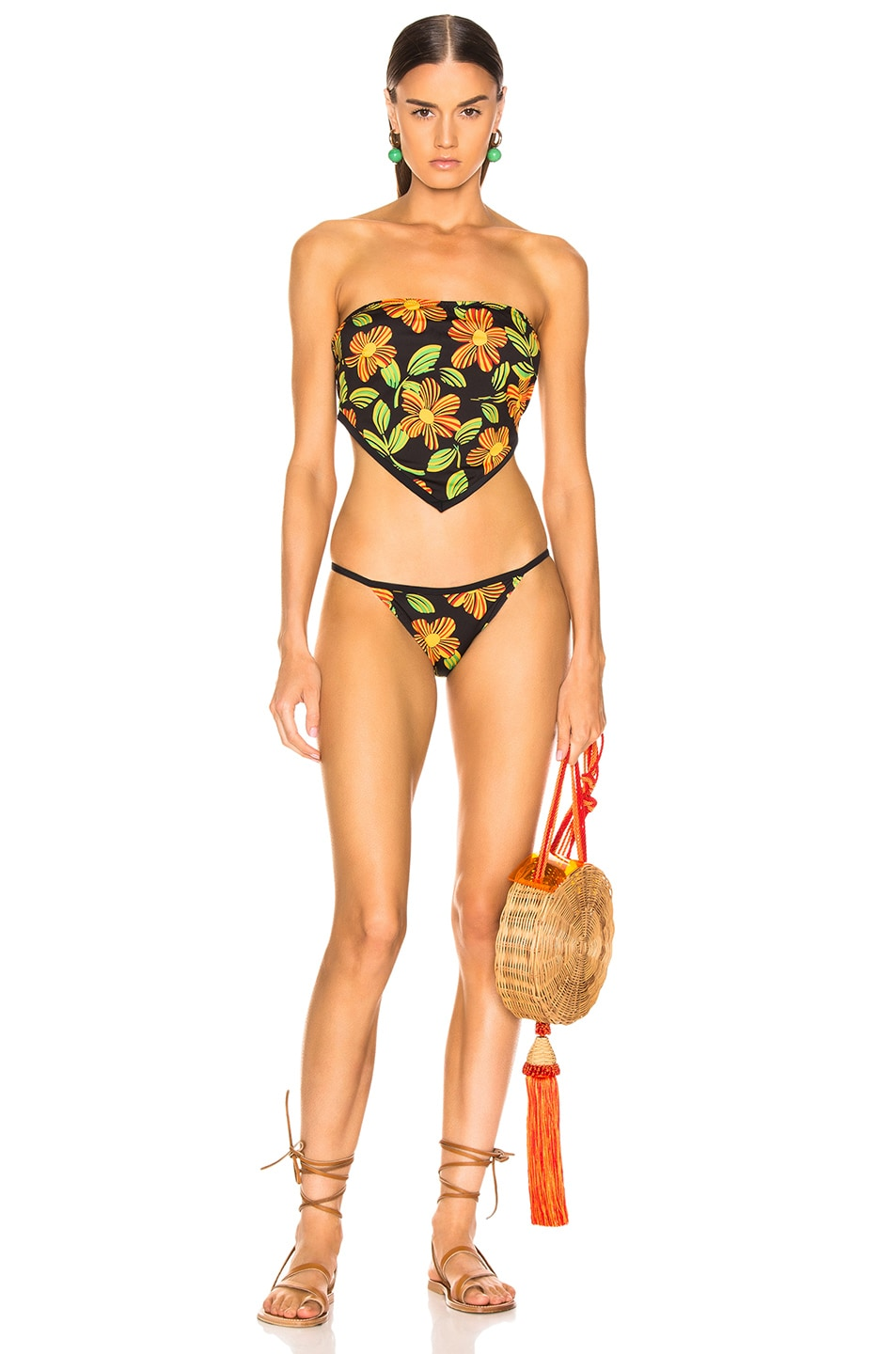 Image 4 of Solid & Striped Bianca Bikini Top in Groovy Floral