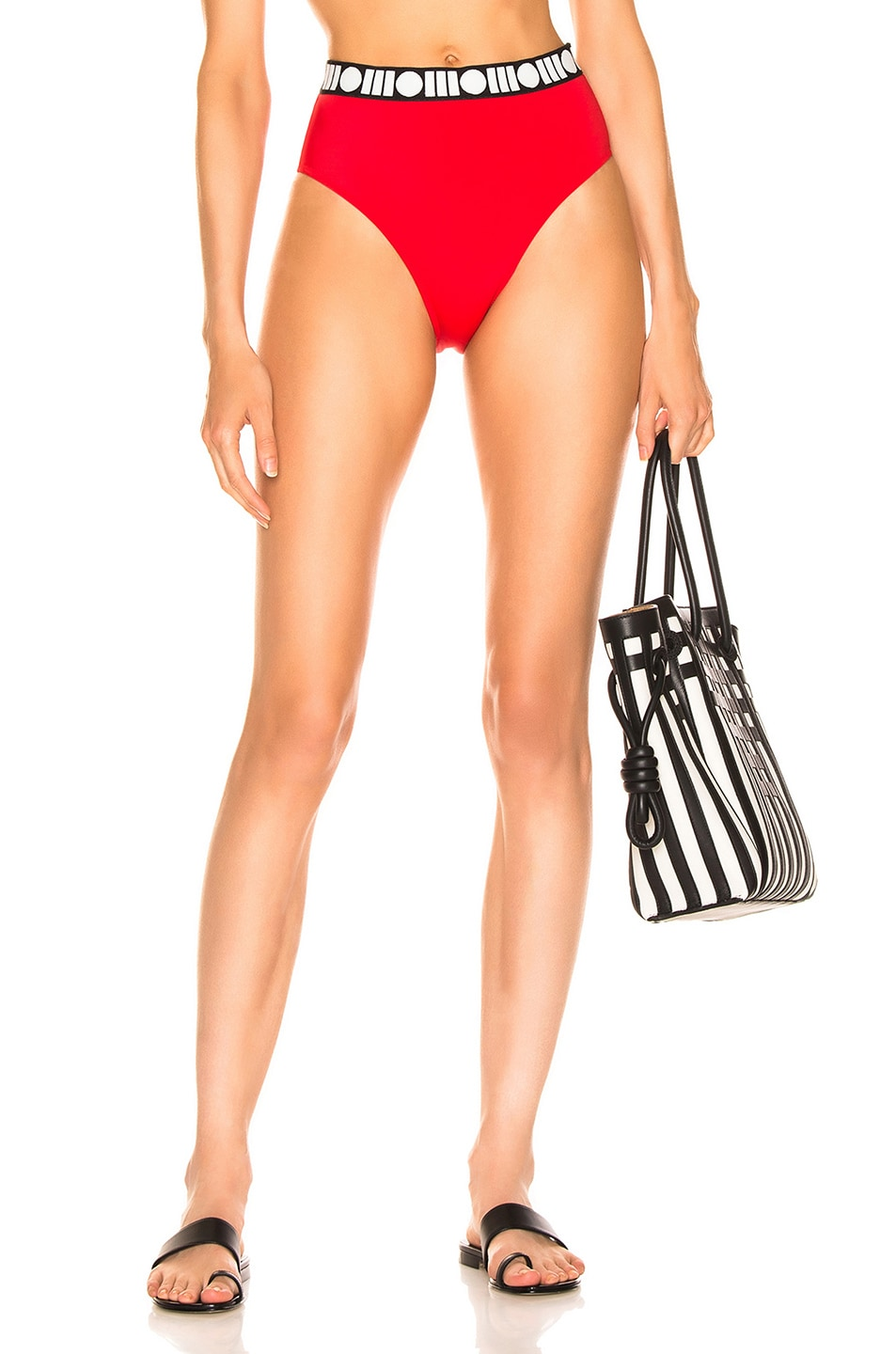Image 1 of Solid & Striped Skylar Bikini Bottom in Redcoat