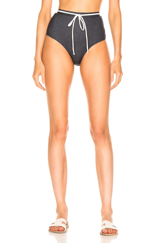 Image 1 of Solid & Striped Cora Bikini Bottom in Denim