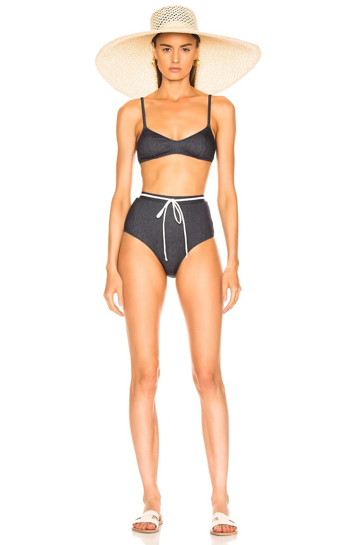 Image 4 of Solid & Striped Cora Bikini Bottom in Denim