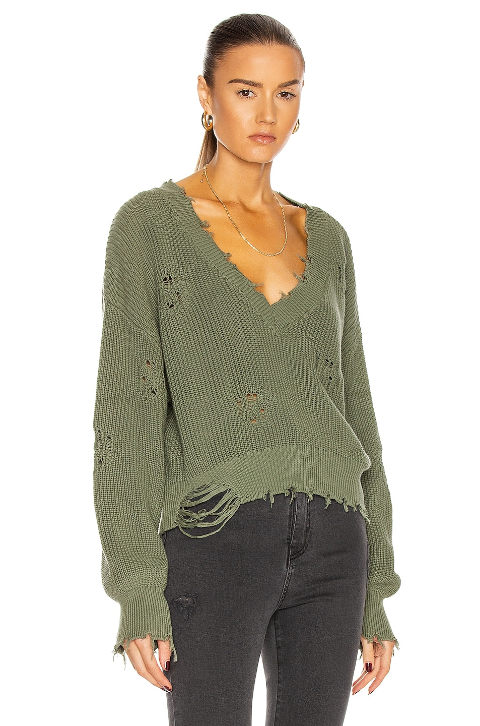 Image 1 of SER.O.YA Syd Sweater in Olive