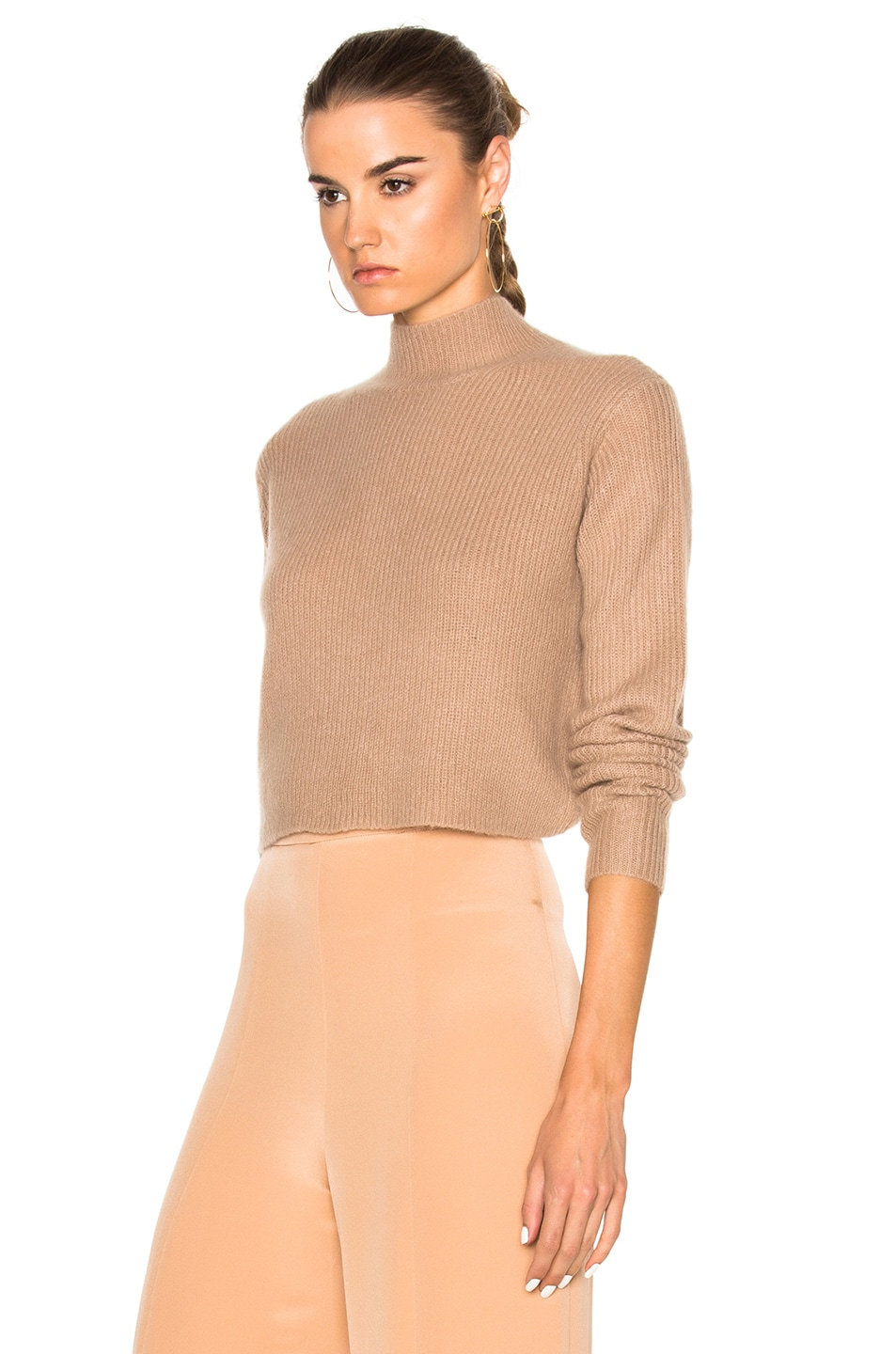 Image 3 of Soyer Crop Sweater in Faune