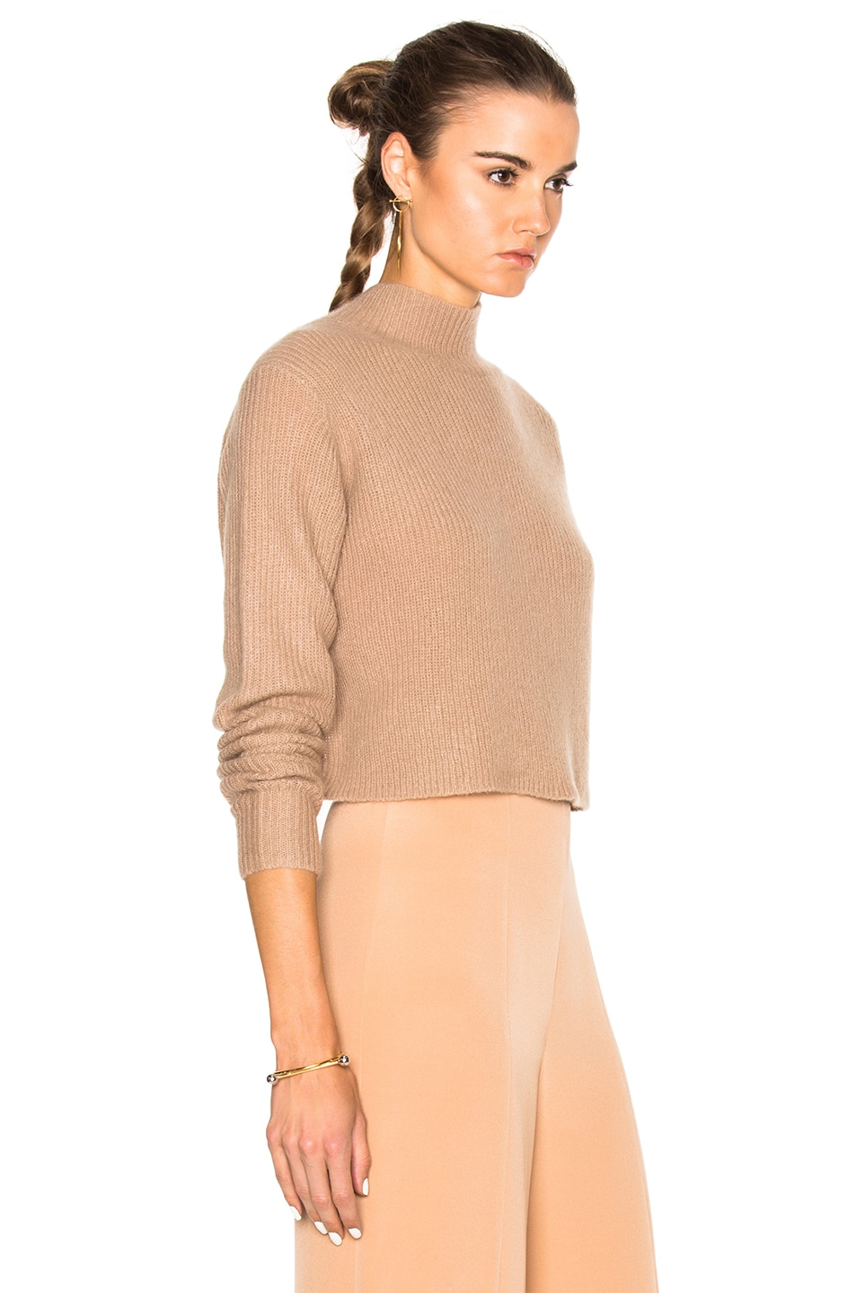 Image 4 of Soyer Crop Sweater in Faune