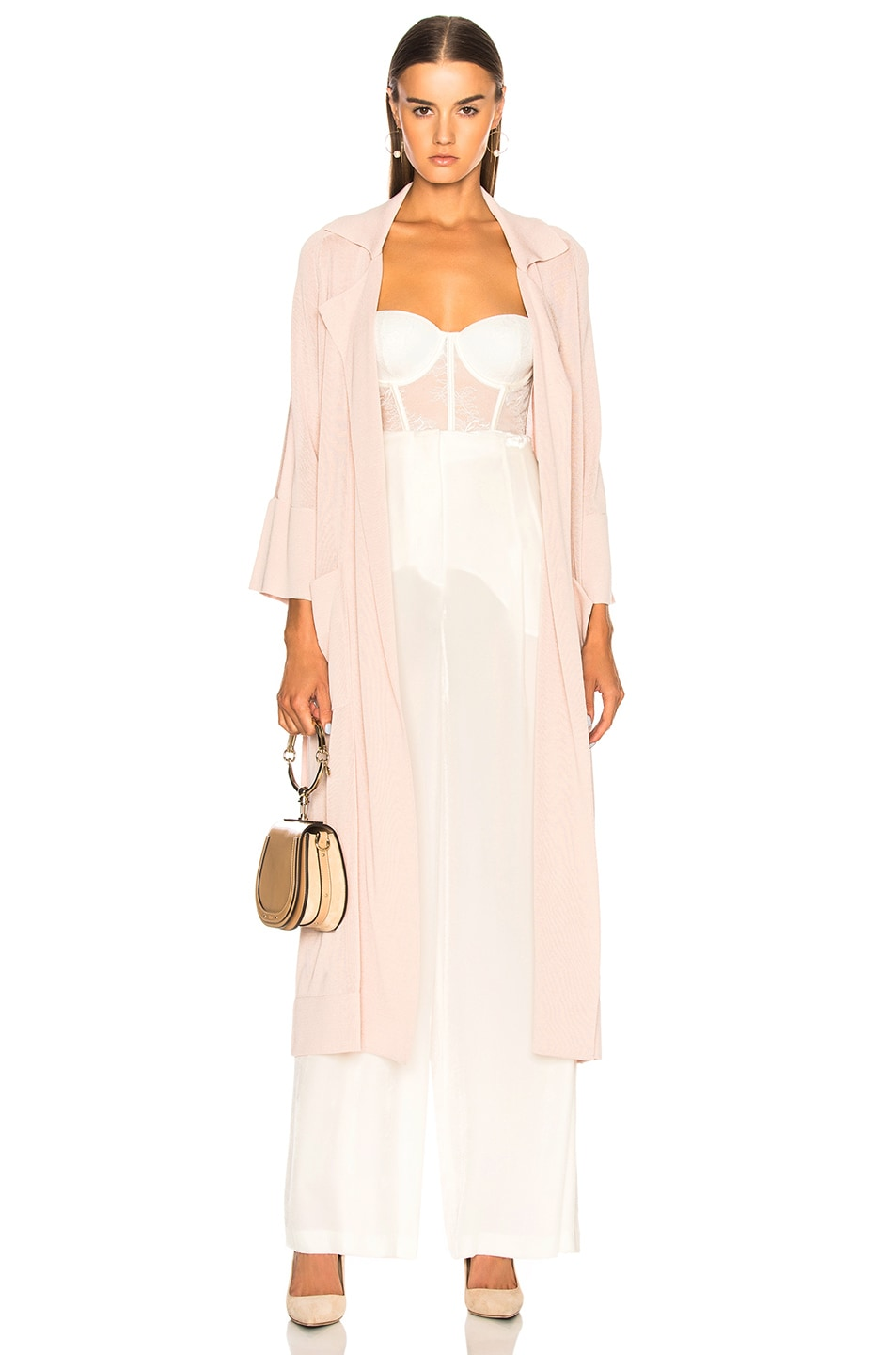 SOYER SUMMER BELTED TRENCH COAT IN PINK