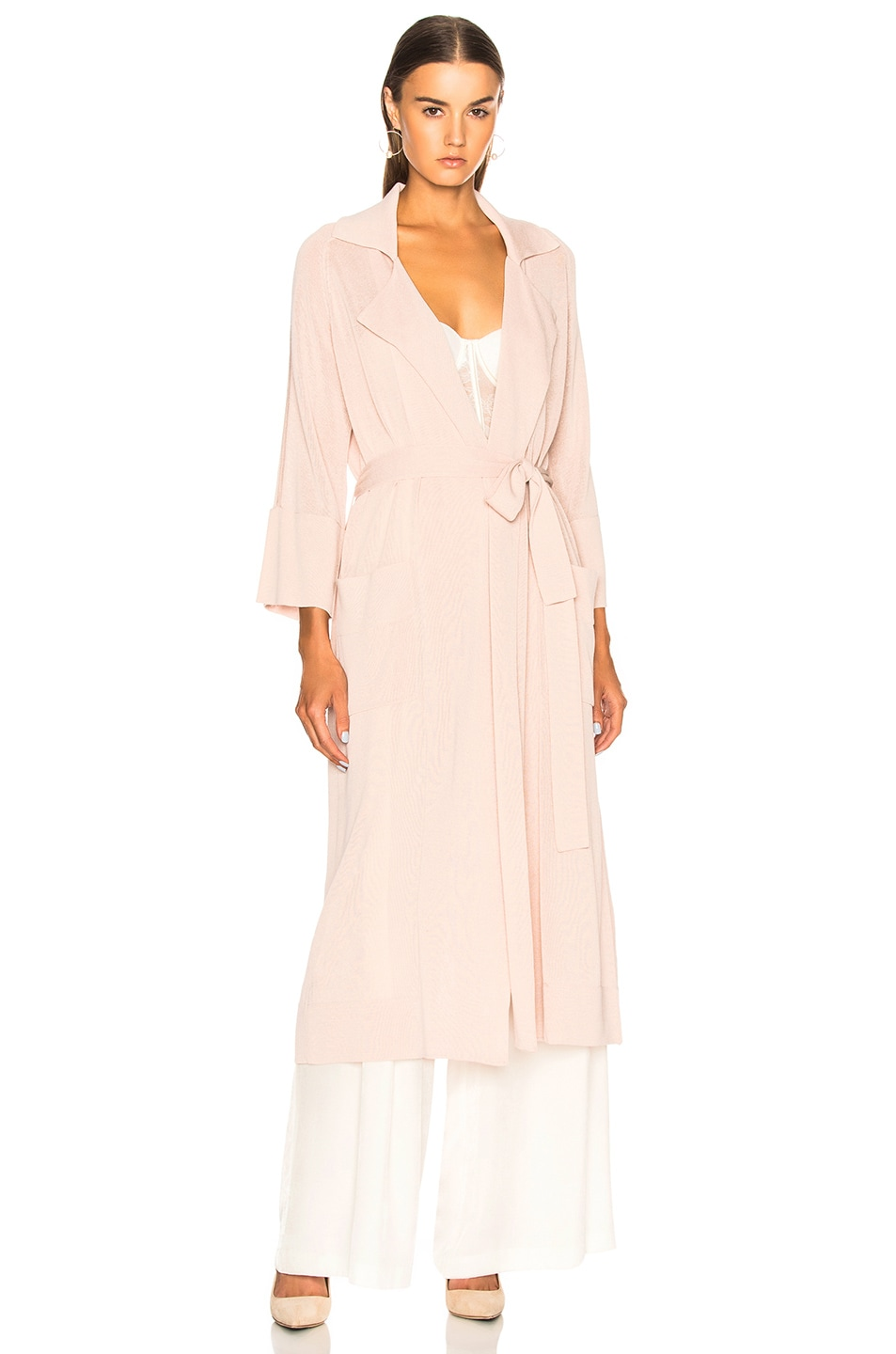 Image 2 of Soyer Summer Belted Trench Coat in Rose