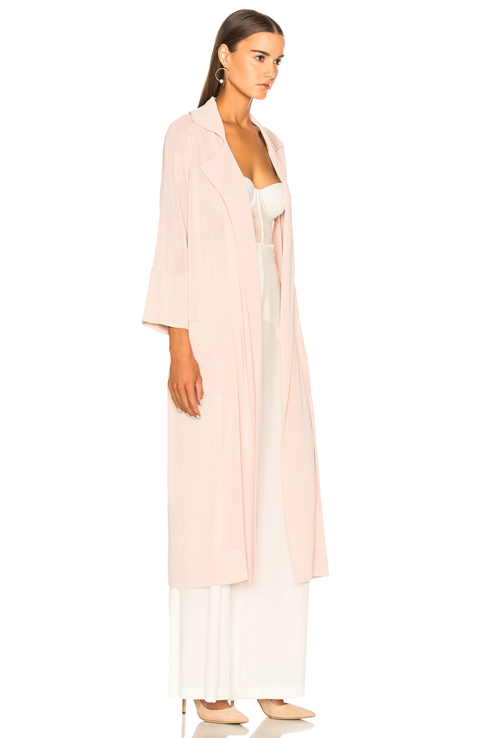 Image 3 of Soyer Summer Belted Trench Coat in Rose