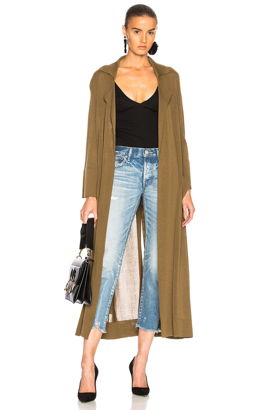 SOYER SUMMER BELTED TRENCH COAT IN GREEN
