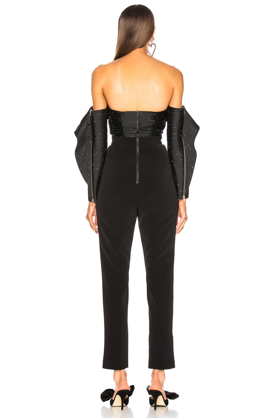 Image 4 of self-portrait Midnight Jumpsuit in Black