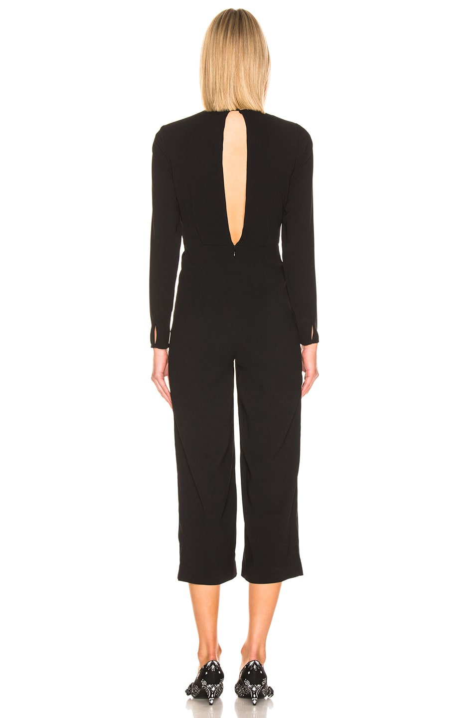 Image 3 of self-portrait Twist Front Jumpsuit in Black