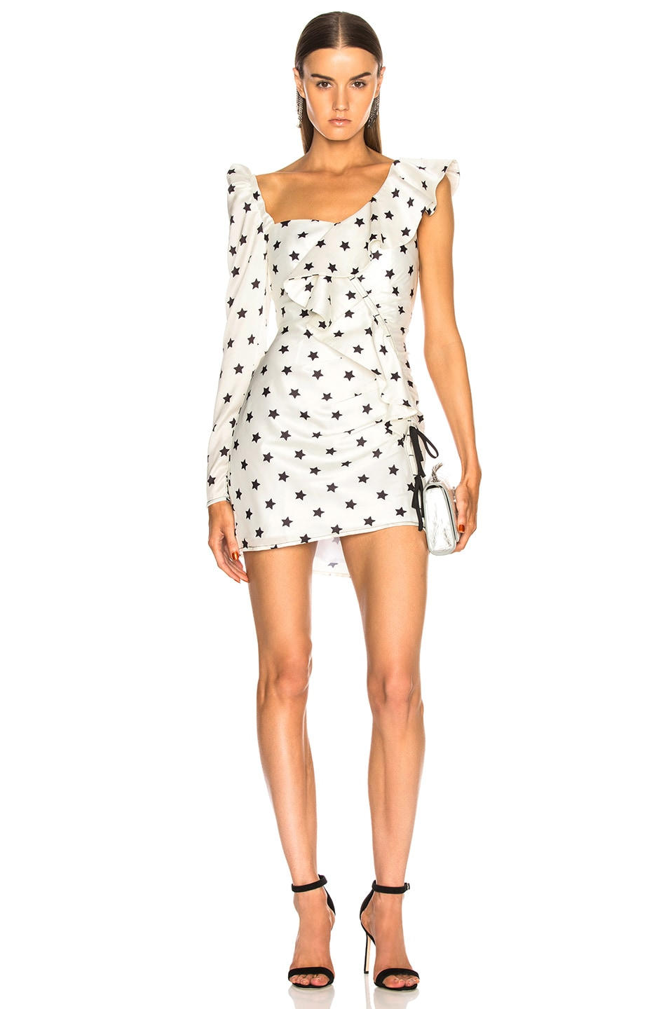 a28db5de4ab1e Image 1 of self-portrait Printed Star Frill Dress in Ivory
