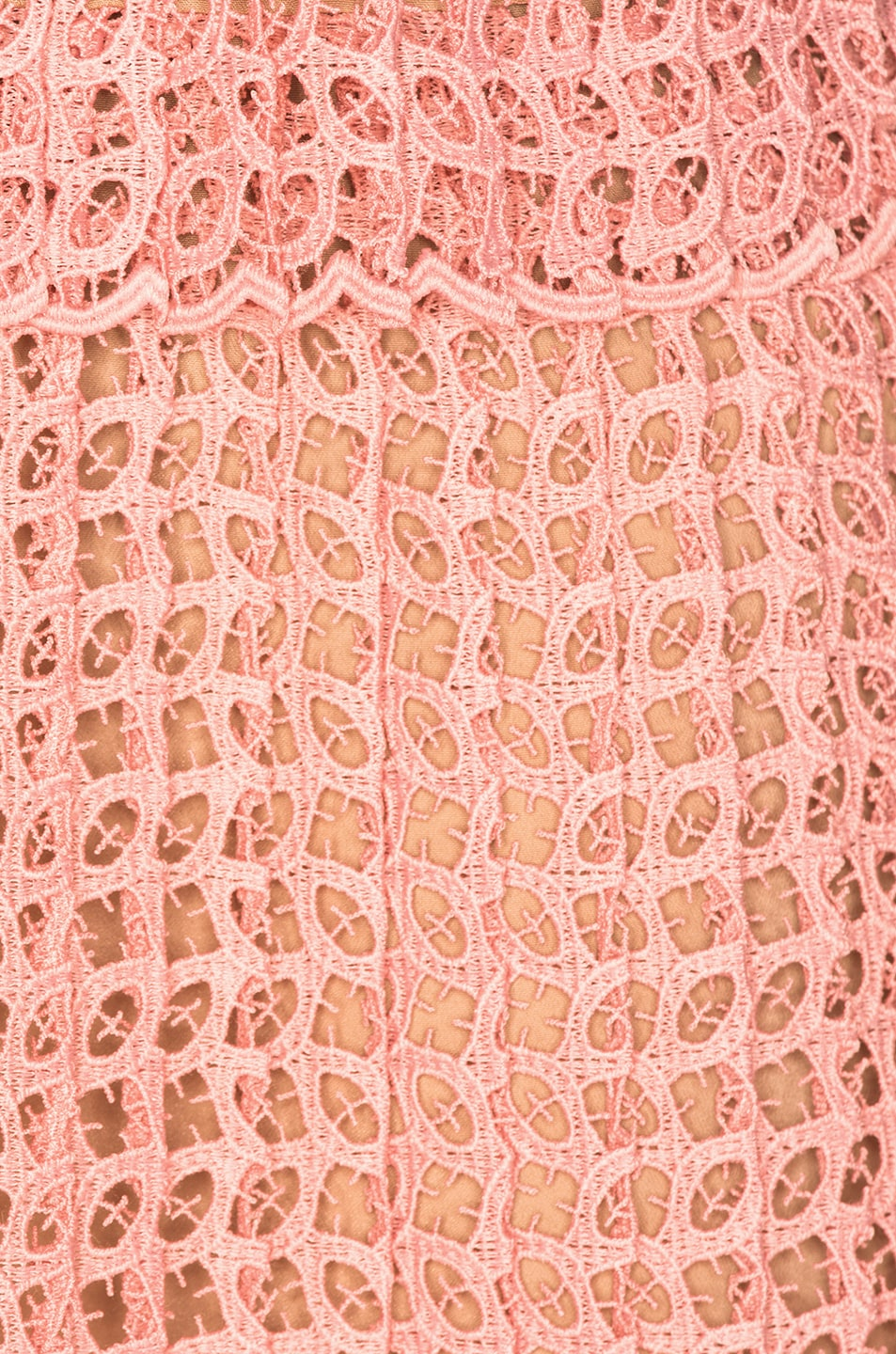 Image 4 of self-portrait Cutwork Mini Dress in Pink