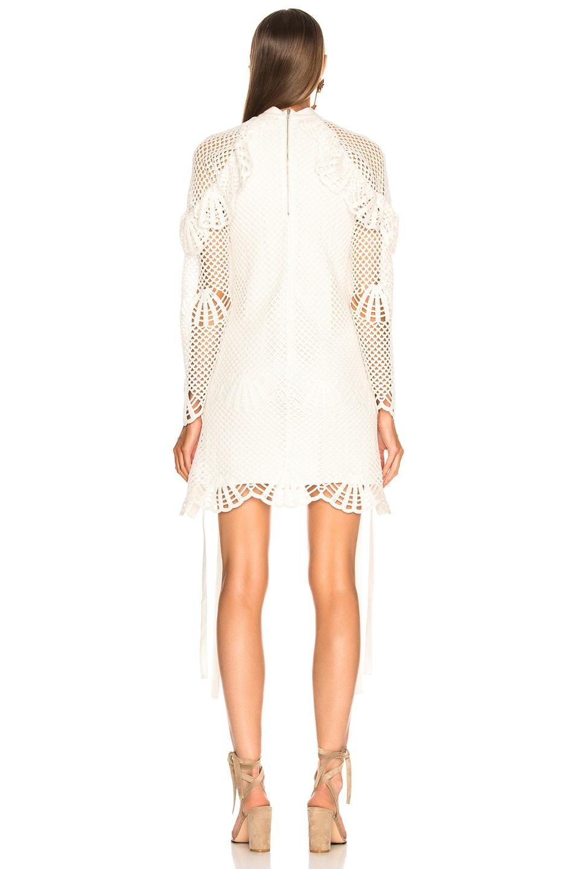Image 3 of self-portrait Crochet Mini Dress in Ivory