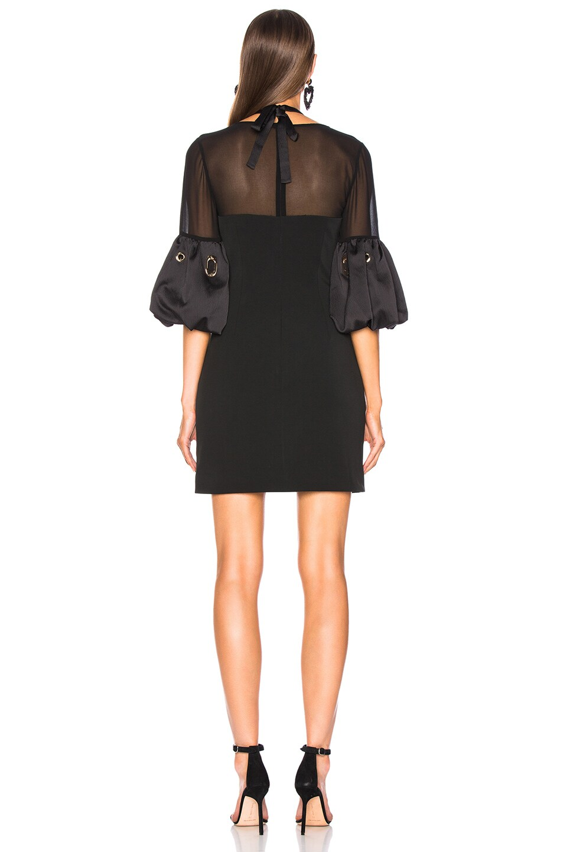 Image 3 of self-portrait Lace Halter Mini Dress in Black