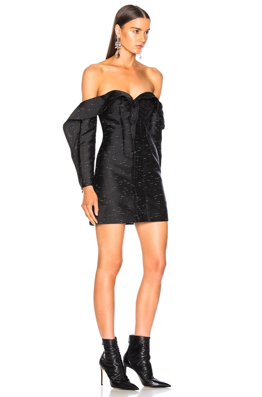 Image 2 of self-portrait Midnight Mini Dress in Black