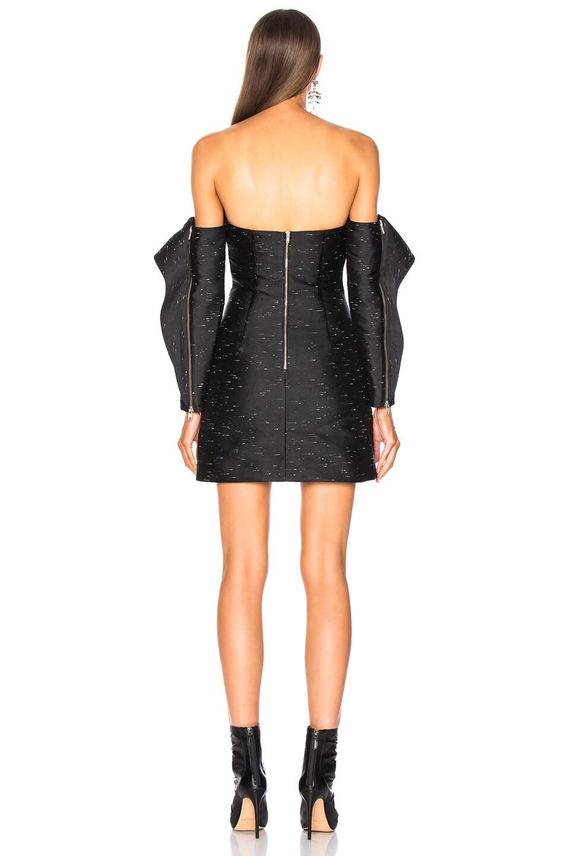 Image 3 of self-portrait Midnight Mini Dress in Black