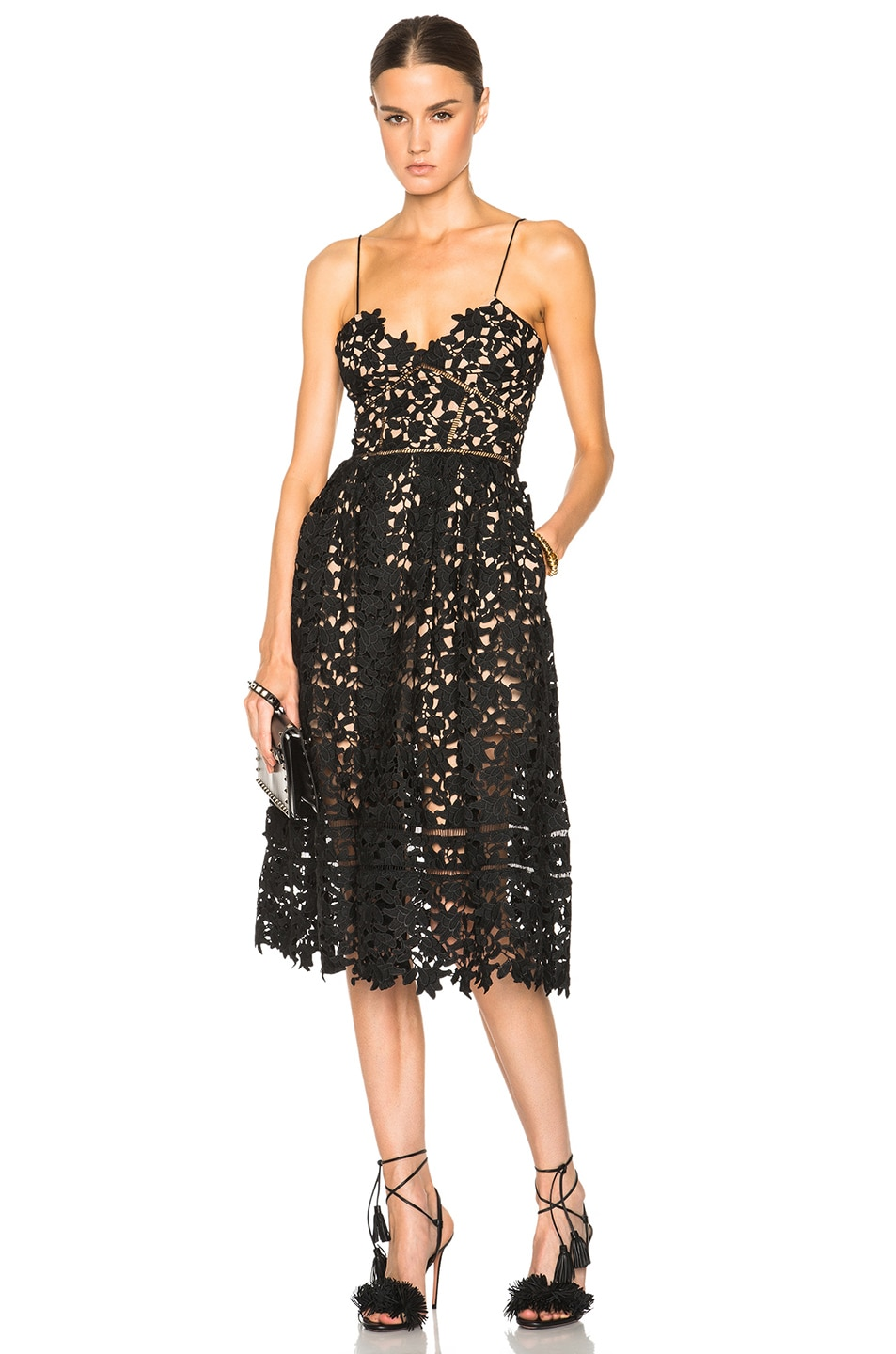 Image 1 of self-portrait Azaelea Dress in Black